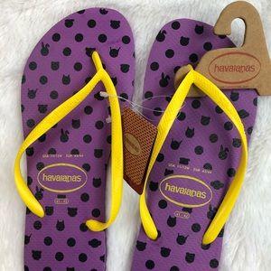 Havaianas Flip Flops Thongs Purple 11 12 Sandals